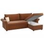 Угловой диван Милфорд (рогожка коричневый)