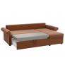 Угловой диван Милфорд (рогожка коричнево-бежевый)