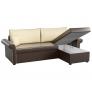 Угловой диван Милфорд (эко кожа коричнево-бежевый)