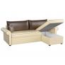 Угловой диван Милфорд (эко кожа бежево-коричневый)
