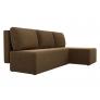 Угловой диван Поло (микровельвет коричневый)