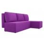 Угловой диван Поло (микровельвет фиолетовый)