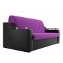 Прямой диван Сенатор (фиолетовый/черный) микровельвет экокожа