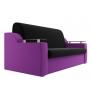 Прямой диван Сенатор (черный\фиолетовый) микровельвет