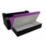 Прямой диван Сенатор (фиолетовый/черный) микровельвет