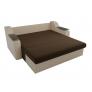 Прямой диван Сенатор (коричневый\бежевый) микровельвет экокожа