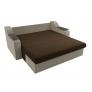 Прямой диван Сенатор (коричневый\бежевый) микровельвет
