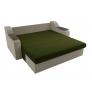 Прямой диван Сенатор (зеленый\бежевый) микровельвет