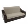 Прямой диван Сенатор (бежевый\коричневый) микровельвет экокожа