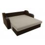 Прямой диван Сенатор (бежевый\коричневый) микровельвет