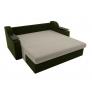 Прямой диван Сенатор (бежевый/зеленый) микровельвет