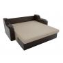 Прямой диван Сенатор (бежевый\коричневый) экокожа