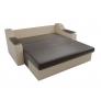 Прямой диван Сенатор (коричневый\бежевый) экокожа