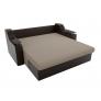 Прямой диван Сенатор (бежевый\коричневый) рогожка