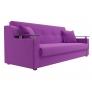 Прямой диван книжка Сенатор фиолетовый микровельвет
