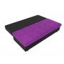 Прямой диван Спенсер (фиолетовый/черный) микровельвет