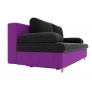 Прямой диван Спенсер (черный/фиолетовый) микровельвет