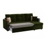 Угловой диван Валенсия (вельвет зеленый)