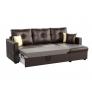 Угловой диван Валенсия (эко кожа коричневый)