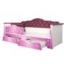 Детская кровать Ноктюрн 01.34 (Велутто темно-ягодный)