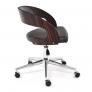 Кресло JAZZ палисандр, кож/зам, черный, 4231