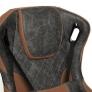 Кресло iMatrix кож/зам, серый/коричневый
