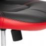 Кресло BAZUKA кож/зам, черный/красный