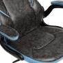 Кресло BAZUKA кож/зам, серый/голубой