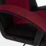 Кресло DRIVER кож/зам/ткань, черный/бордо