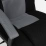 Кресло DRIVER ткань, черный/серый