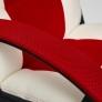 Кресло DRIVER кож/зам/ткань, белый/красный