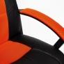Кресло DRIVER кож/зам/ткань, черный/оранжевый