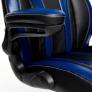Кресло Rocket кож/зам, черный/темно-синий