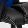 Кресло DRIVER кож/зам/ткань, черный/синий