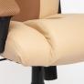 Кресло DRIVER кож/зам/ткань, бежевый/бронзовый