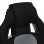 Кресло DRIVER кож/зам/ткань, черный/серый