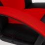 Кресло DRIVER ткань, черный/красный
