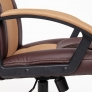 Кресло DRIVER кож/зам/ткань, коричневый/бронзовый