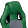 Кресло DRIVER кож/зам/ткань, зеленый/серый