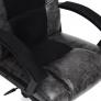 Кресло DRIVER кож/зам/ткань, серый/черный