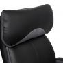Кресло DUKE кож/зам/ткань, черный/серый