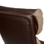 Кресло DUKE кож/зам/ткань, коричневый/бронза