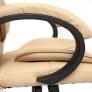 Кресло OREON кож/зам, бежевый/бежевый перф.