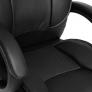 Кресло OREON кож/зам, черный/черный перф.
