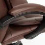 Кресло OREON кож/зам, коричневый/коричневый перф, 36-36/36-36/06