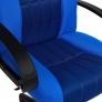 Кресло СН833 ткань/сетка, синий/синий, 2601/10