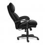 Кресло CHIEF кож/зам/ткань, черный/черный стеганный/черный