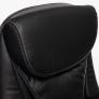Кресло CAMBRIDGE кож/зам/ткань, черный/черный