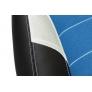 Кресло INTER кож/зам/ткань, черный/синий/серый