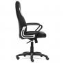 Кресло INTER кож/зам/ткань, черный/серый/серый